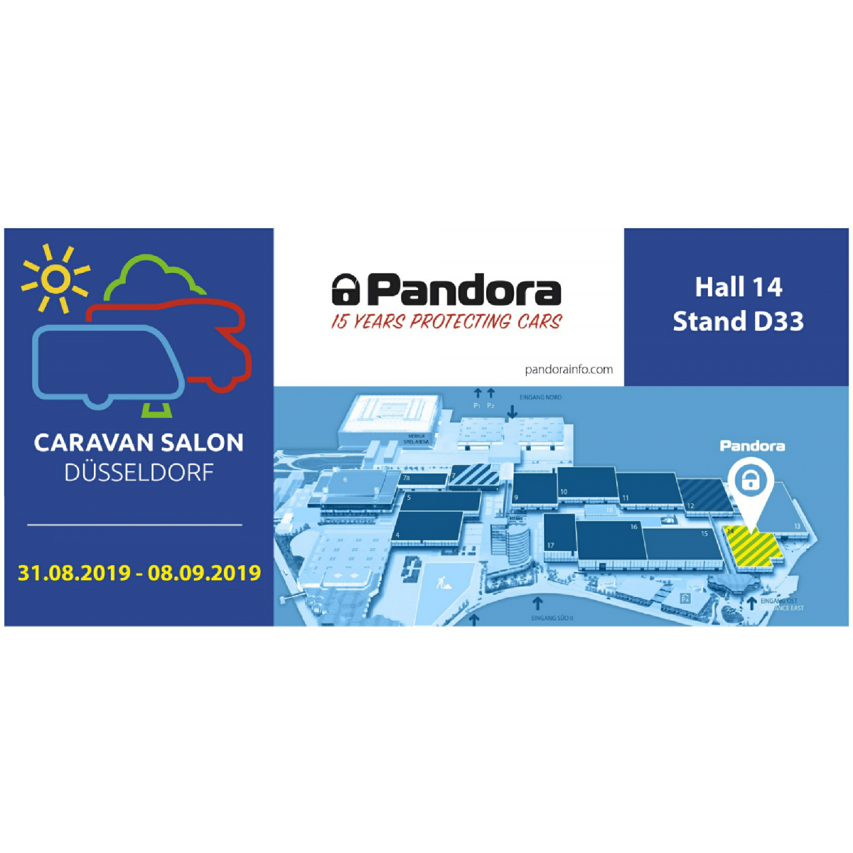 Pandora at Caravan Salon Düsseldorf 2019