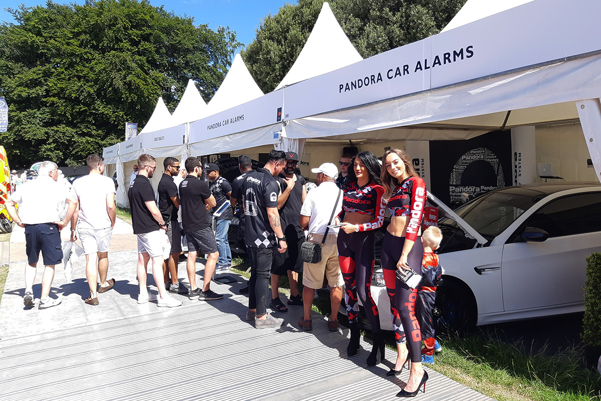 Pandora participated in the Goodwood Festival of Speed in the UK
